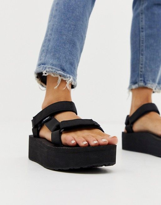 Teva Universal Flatform Sandal (Women | Sandals, Black