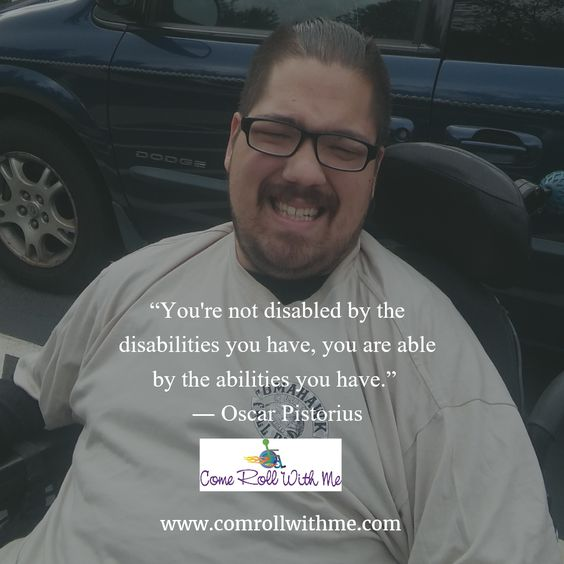 "Focus on the ""CAN"" in your life!!  #inspire #abilities #cerebralpalsy #disabilities #wheelchairadventures #overcome #strength #character"