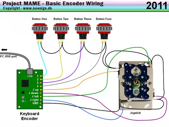 project mame basic arcade and mame joystick and push button wiring guide arcade cabinet