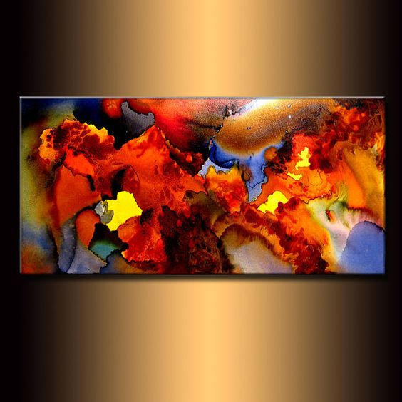 Original Modern Abstract Painting Canvas art by newwaveartgallery, $360.00