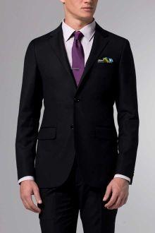 black suit with royal purple tie - Google Search | purple
