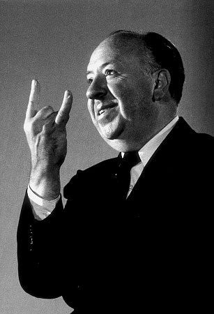 Alfred Hitchcock Smiling