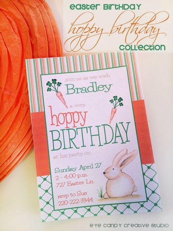 Hoppy Birthday, Easter Birthday collection @eyecandycreate #easterbirthday #birthdayidea