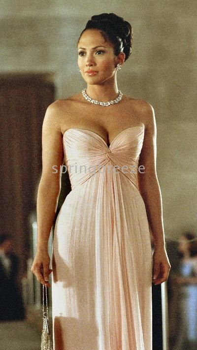 Wholesale Evening Dress Prom Gown Bridesmaid Dress in the movie 'Maid In Manhattan' Made of Chiffon, Free shipping, $82.84-98.0/Piece   DHgate