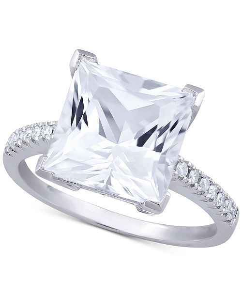 White Topaz 5 3 4 Ct T W Diamond 1 10 Ct T W Ring In 14k White Gold White Topaz White Gold Jewelry Topaz