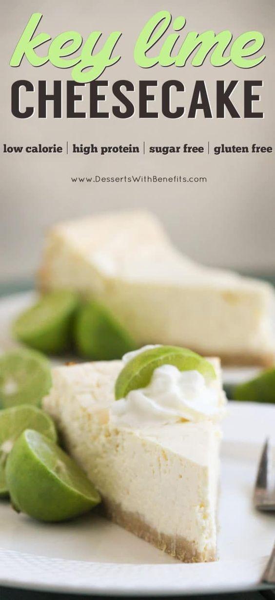 Healthy Key Lime Cheesecake