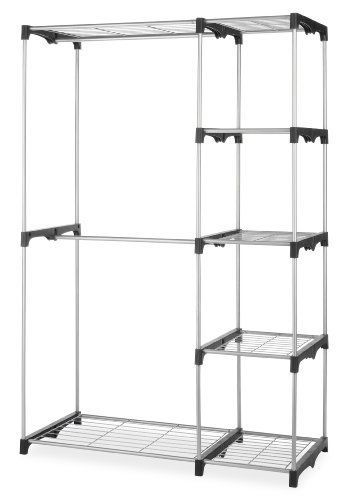 NEW Closet Double Rod Whitmor Silver Organizer Storage Shelves Hanging  Wardrobe #Whitmor