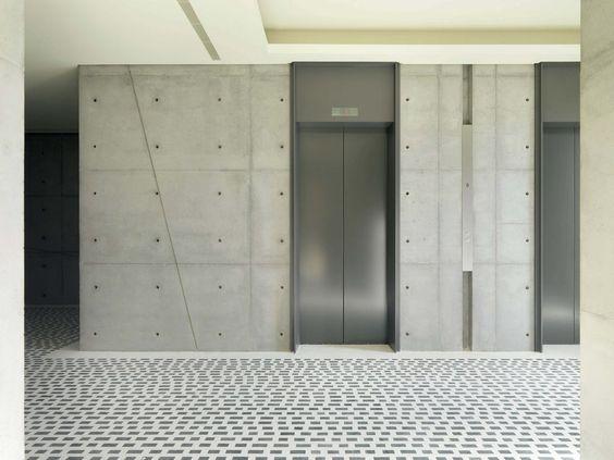 Elevator lobby elevator and lobbies on pinterest for Modern elevator design