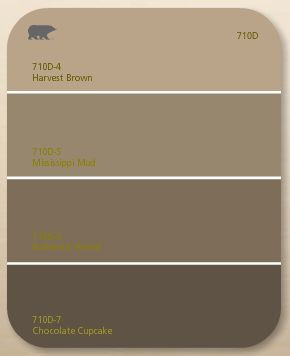 We picked harvest brown by behr the top colour as the colour throughout the house house - Tan and brown color schemes ...