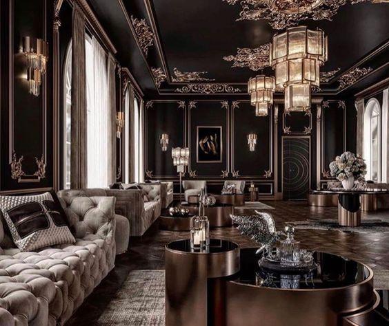 Shifting To Hogwarts Black Living Room Decor Black Living Room Luxury Homes Interior