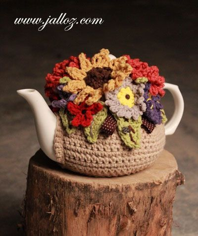 Crochet tea pot cozy: