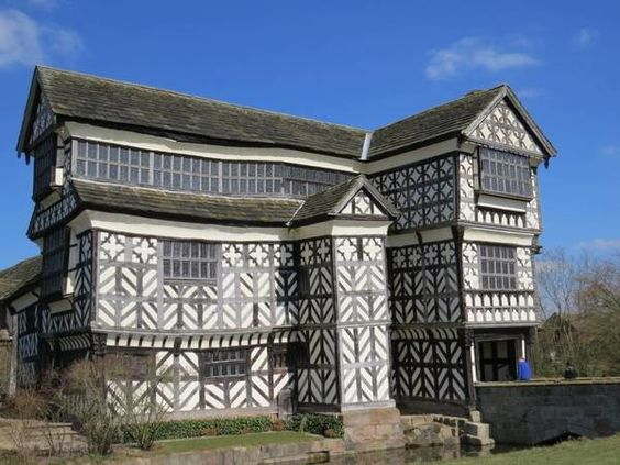 This askew 16th-century Tudor manor still stands despite almost nothing but leaning angles and sagging supports
