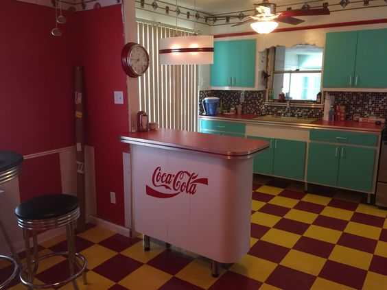 "My moms retro kitchen. A ""Blast from the Past""."