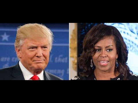Donald Trump vs. Michelle Obama - Staged Divide And Conquer Controversy - YouTube