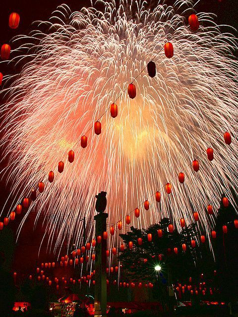 Most cities in Japan hold a summerfestivalwith the most incredible firework displays… called Hanabi.