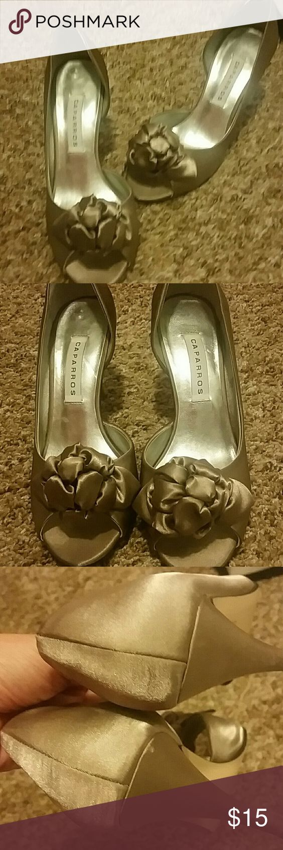 Cute Caparros heels Good used condition.  Perfect for a night out. Caparros Shoes Heels