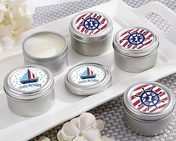 Personalized Travel Candle - these Nautical Birthday Collection