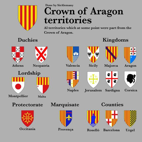 territories that belonged to the Kingdom of Aragon at various times.