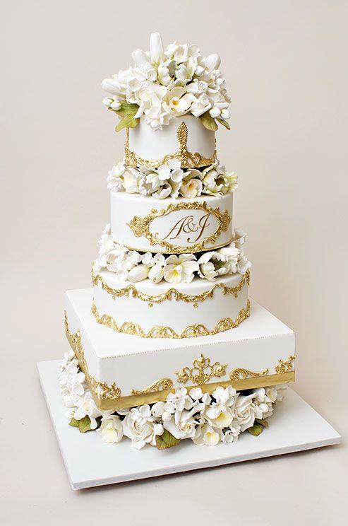 An elegant wedding cake from Ron Ben-Israel Cakes ...