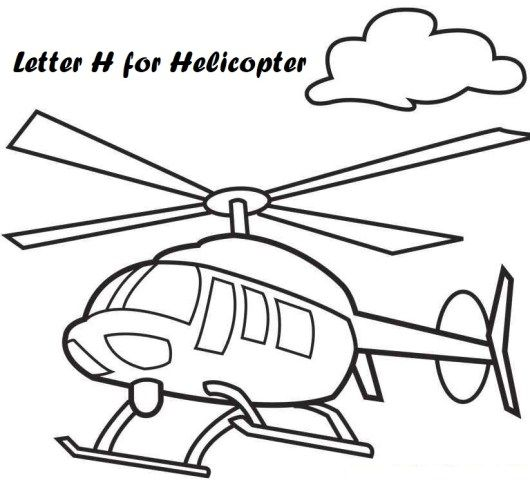 Letter H For Helicopter Coloring Pages Airplane Coloring Pages Coloring Pages For Kids Cute Coloring Pages