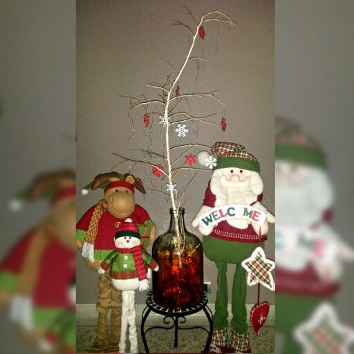 Idea de decoración de chamizo #navidad #decoración #chamizo