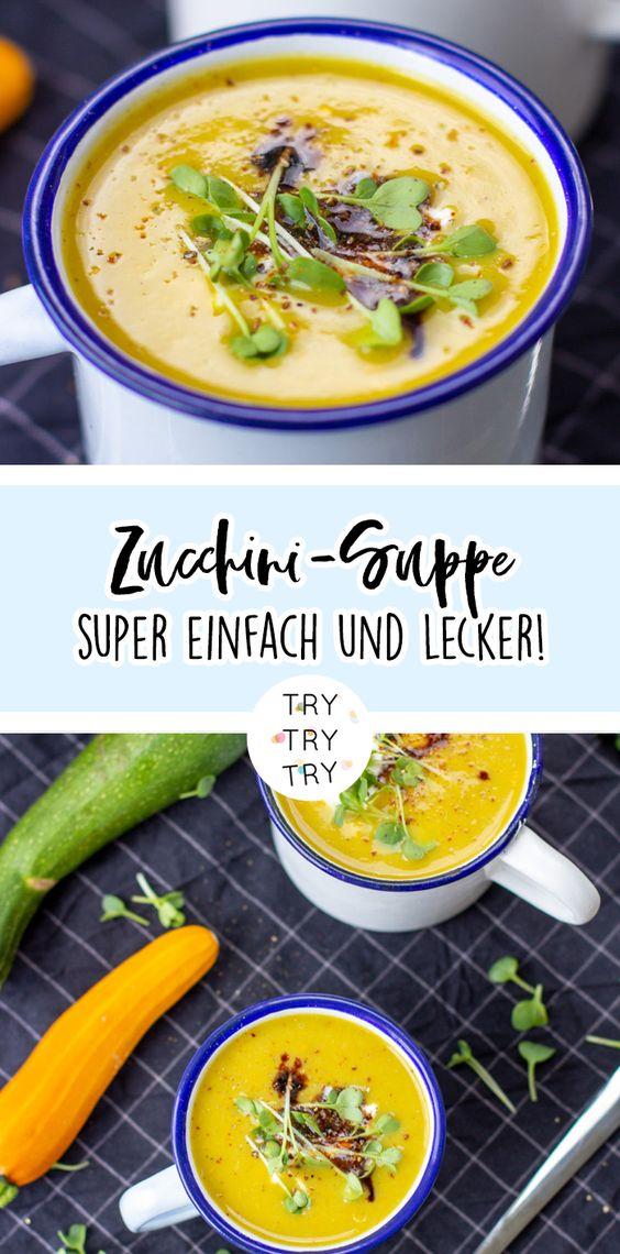 Herbstliche Zucchini-Suppe + Zucchini auf dem Balkon anpflanzen