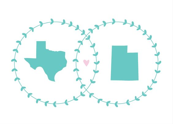 This is the front of the invitation- we love it! I'm from Texas and Dylan is from Utah