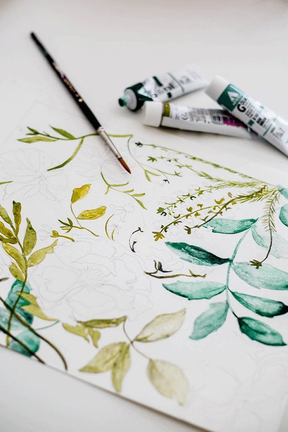 handrawing floral pattern