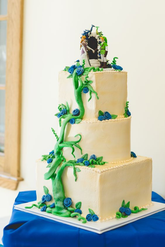My zelda wedding cake my wedding photos pinterest for Decoration zelda