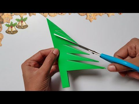 Christmas Crafts Mini Decoration Projects Ideas With Color Papers Youtube Decorazioni Di Natale Alberi Di Natale Idee