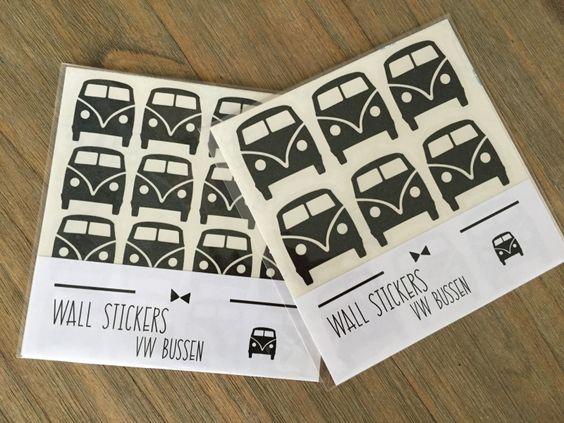 Super leuke VW bus muurstickers