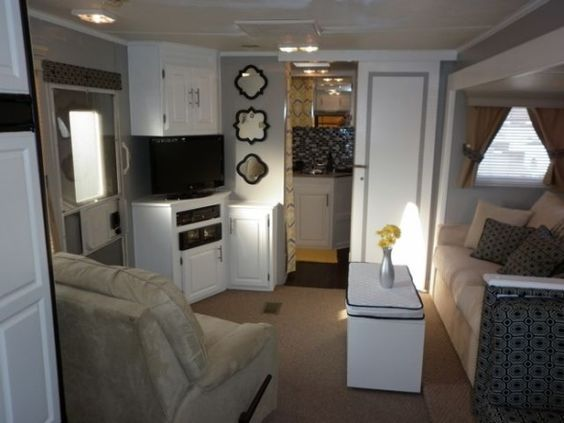 Camper travel trailer rv remodel my parents gave us their for Redesign my room