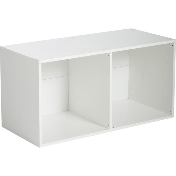 Etag re 2 cases multikaz blanche l35 2 x h69 2 x p31 7 cm - Etagere metal leroy merlin ...