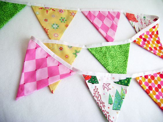 Bright Fabric Bunting Flags