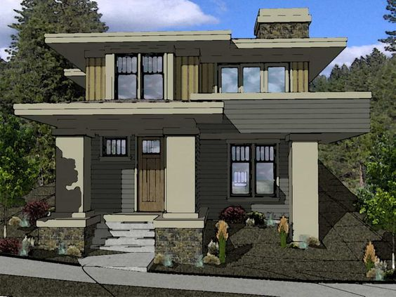 Prairie Style Houses House Plans And Unique On Pinterest