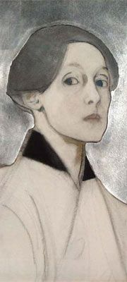 It's About Time: Woman Artist - Self-Portraits - Helene Schjerfbeck (1862–1946) silber ikonisches überhöjinh
