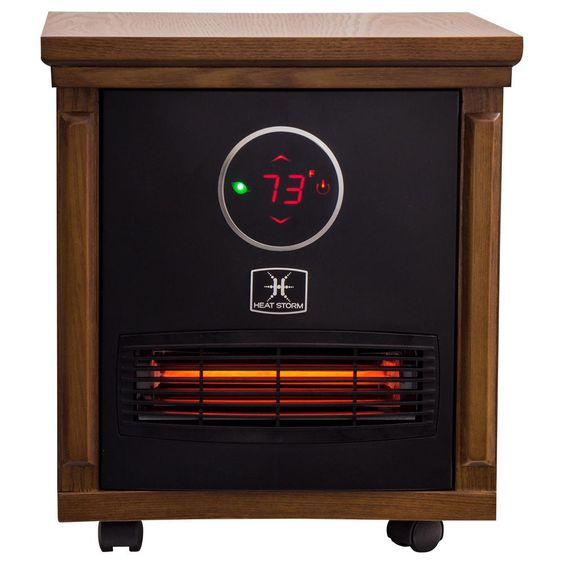 Heat Storm Smithfield Classic 1 500 Watt Infrared Quartz Portable Heater With Built In Thermostat And Over Heat Sensor Brown Portable Heater Infrared Heater Heating Cooling