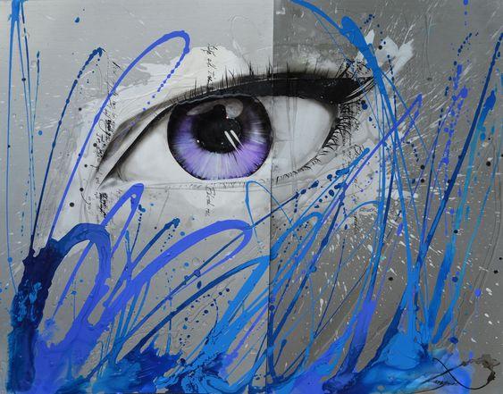 «Blind Girl» 36 x 44 '' (Diptyque)   Disponible https://www.facebook.com/ALampronArtiste