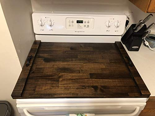 Rustic Stove Top Cover Wooden Tray For Stove Stove Top Tray Wood Stove Tray Decorative Tray The Appala In 2020 Stove Top Cover Wooden Tray Wooden Stove Top Covers