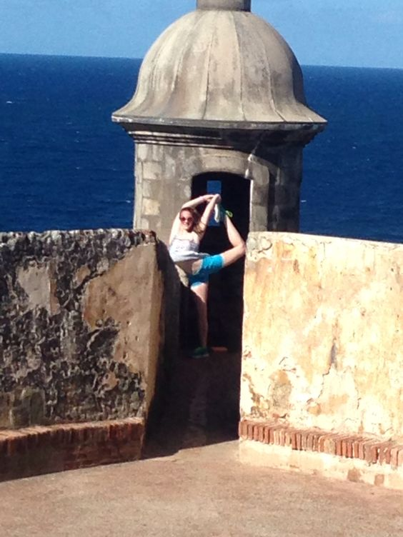SAN JUAN, PUERTO RICO..Dancing in new elements: using nature as the dancers stage, set and backdrop