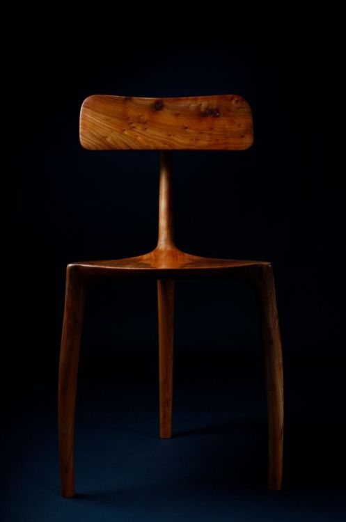 Motherfucking CHAIRS • theantidote:   3 Leg chair in English Elm, oil...