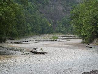 Taughannock Falls creek bed