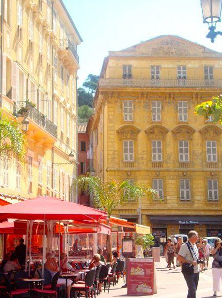 Nice France, Nizza, restaurants in Nice, French Riviera, Mediterranean food wie oft bin ich da gesessen