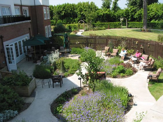 Sensory garden dementia and gardens on pinterest for Sensory garden designs