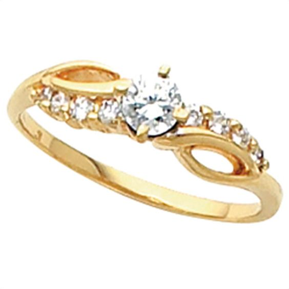 3/8 ct tw Bypass Diamond Engagement Ring | Matthew Erickson Jewelers