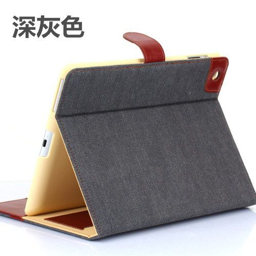 Case with denim parrten wallet style with pockets and stand for