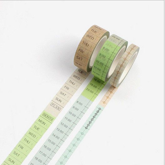 Timeline 3 Rolls Beautiful Washi Tape Masking Tape Scrapbooking Decor Stickers Unbranded Masking Tape Diy Diy Weekly Planner Washi Tape