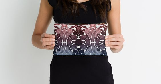 """""""Design abstract blue and marsala"""" Studio Pouches by VanGalt 