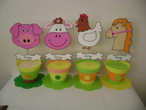 Centro de mesa de animales de la granja buscar con for Animales de plastico para jardin