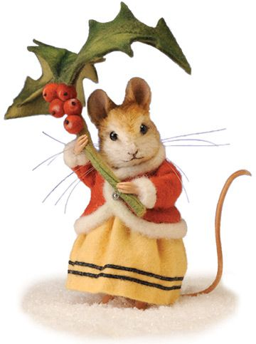 """Annamarie the Winter Mouse . I could post this in """"Products I love"""" because she is actually available for sale, but it's way out of my price range.  Just think she's cute.:"""